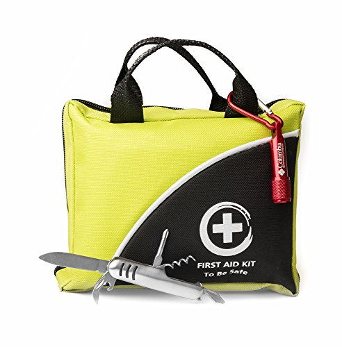 First Aid Kit 102 Piece The Only One With Flashlight And Multi-Use Knife - Ideal Emergency Kit - FDA Approved Glow in the Dark ifak For Camping Sport Outdoor Car Home Travel Hiking Safety Survival