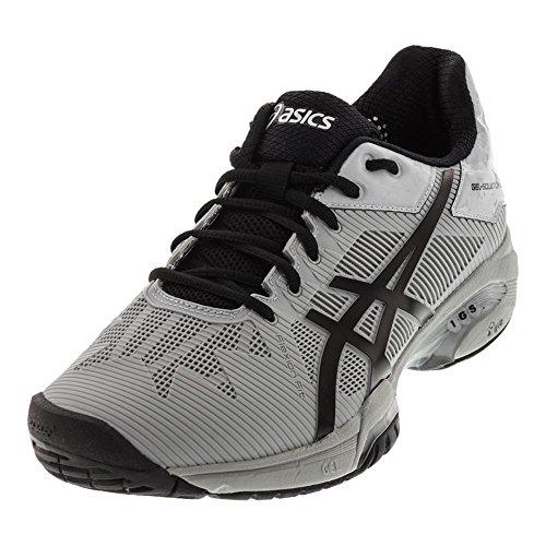 Asics Mens Gel Soluzione Di Velocità 3 Tennis Shoe Metà Grigio / Nero