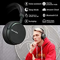 Bluedio V2 (Victory) Bluetooth Headphones Over Ear, PPS12 Drivers Wireless Headset mic Cell Phone/PC, Voice Control Volume Pick up Phone, Support Cloud Service(Black) from Bluedio