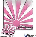 Sony PS3 Slim Skin - Rising Sun Japanese Pink