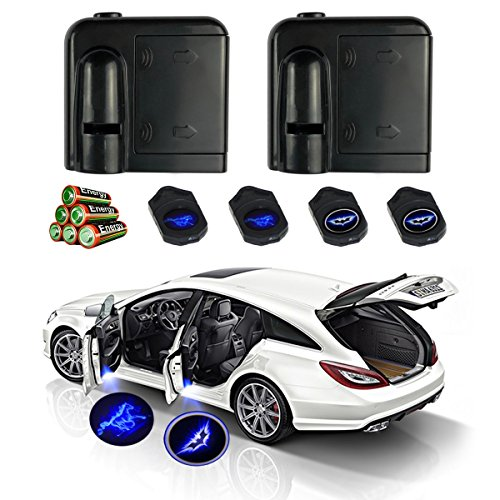 Pair of Car Projector Emblem Car Door Logo Light with 6pcs AAA Batteries, Extra Accessories and 2 Pair of Image Films