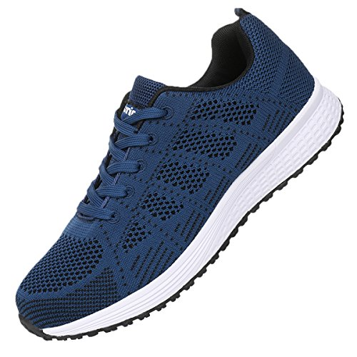 JARLIF Men's Breathable Fashion Walking Sneakers Lightweight Athletic Tennis Running Shoes (10.5 D(M) US, Blue)