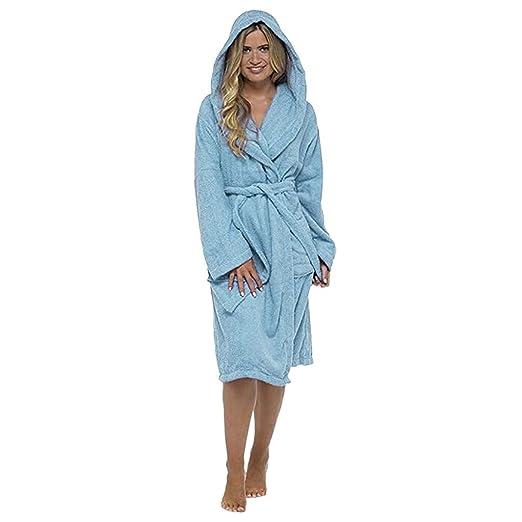 9d30965e0c Redshop Women Men Hotel Spa Waffle Soft Coton Weave Kimono V Neck Sleepwear  Bathrobe Blue