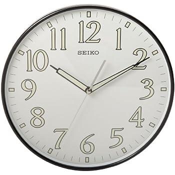 Amazoncom Seiko Wall Clock SilverTone Metallic Case Luminous