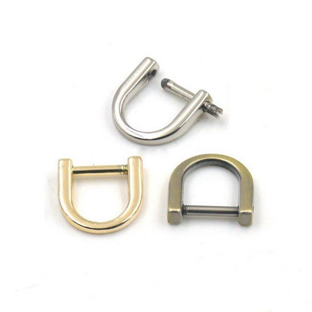 Bronze hanhanlop 5/Pcs Schraube Abnehmbare Dee Ring 3//20,3/cm 10/mm f/ür G/ürtel Gurtband Schnallen Nickel Light Gold Light-Gold