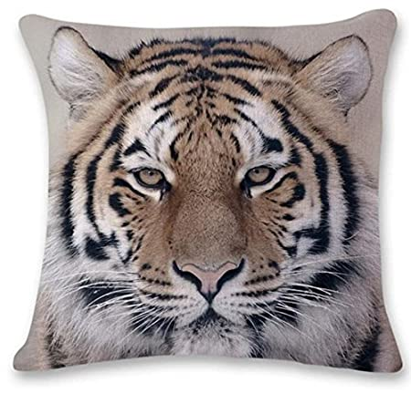 Cojines Tiger.Yancyong 3d Tiger Lion Pillowcase Cojines Bed Decoration Festival