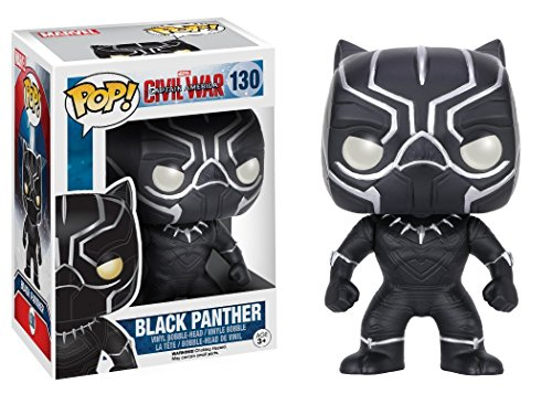 Funko POP Marvel: Captain America 3: Civil War Action Figure - Black Panther (Funko Captain Marvel America Pop)