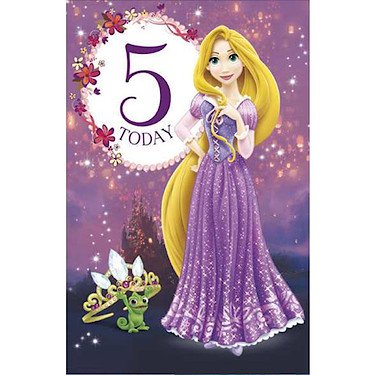 Amazon disney princess rapunzel 5 today birthday card disney princess rapunzel 5 today birthday card 418957 bookmarktalkfo Image collections