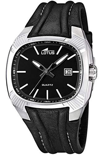 Lotus Doom Mens Analog Quartz Watch with Leather Bracelet 15759/D
