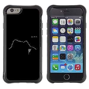 Suave TPU GEL Carcasa Funda Silicona Blando Estuche Caso de protección (para) Apple Iphone 6 PLUS 5.5 / CECELL Phone case / / Text Design Face Black White Meaning /