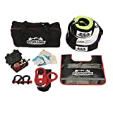 9 Piece 4x4 Off-Road Recovery Kit Snatch Strap, Winch Extension, Snatch Block, Tree Trunk Protector, Shackles, More