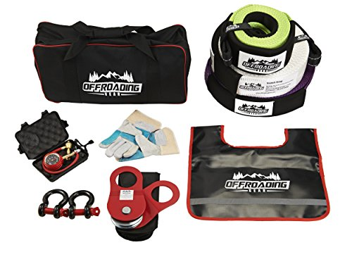 (Off-Road Recovery Strap Kit Snatch Strap, Winch Extension, Snatch Block, Tree Trunk Protector, Shackles, Tire Deflator & More)