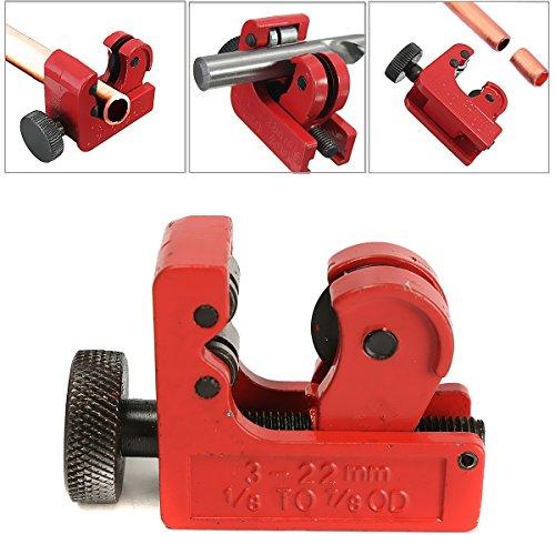 GOCHANGE Einstellbar Mini-Rohrschneider Kupferrohrabschneider, 3 - 22 mm Rohrdurchmesser 1/8inch-7/8inch