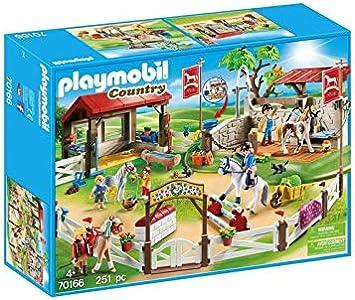 PLAYMOBIL Granja de Ponis 70166: Amazon.es: Juguetes y juegos