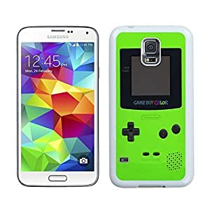 Custom Samsung Galaxy S5 Case Protective <Neo Hybrid> <Satin Silver> Slim Fit Dual Protection Cover for Galaxy S5 and Galaxy S5 Prime(2015)-Satin Silver,,Green Gameboy Samsung Galaxy S5 Case White Cover