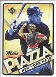"MIKE PIAZZA 2005 Upper Deck Origins 5"" x 7"" Nostalgic Sign New York Mets Baseball"