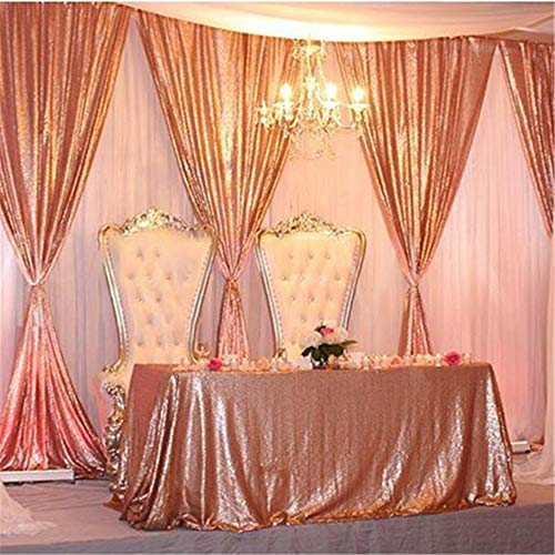 B-COOL Blush Rectangle sequin tablecloth 60