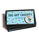 Motivational You Got Caught! Tokens & Cards - Set of 10 Each Recognition Awards