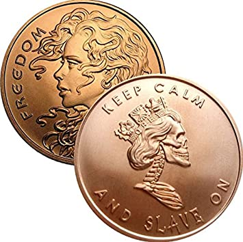 Freedom Girl 1 oz Copper Round