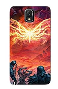 PlfBVKt4520BkaMU New Premium Flip Case Cover Fantasy Warriors Weapons Fire Flames Magic Armor Skin Case For Galaxy Note 3 As Christmas's Gift wangjiang maoyi