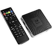 2017 The latest C8(1G+8G) Android 7.1 TV BOX Quad-core Cortex-A53 up to 1.5GHz Built in REATEK8189 2.4G WIFI-Black