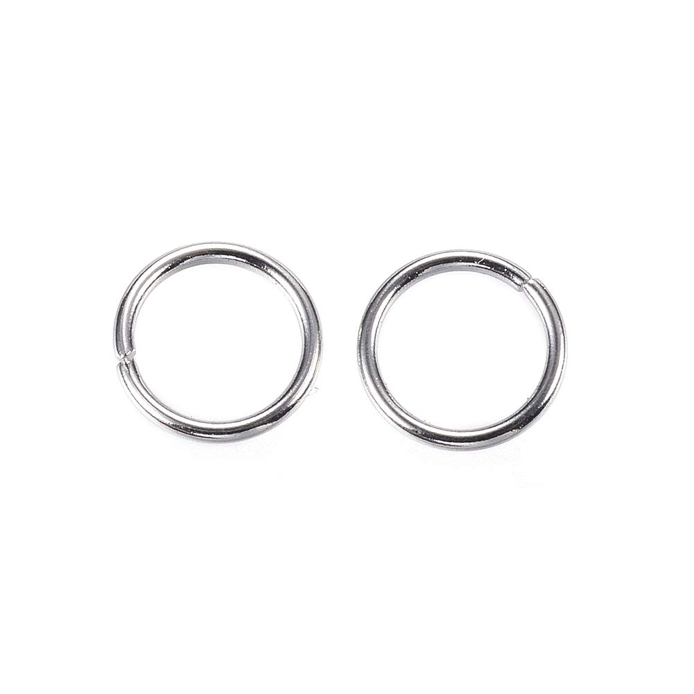 Craftdady 1000Pcs Stainless Steel Open Jump Rings 4mm Round 0.6mm Thick Jewelry Connectors Chain Links
