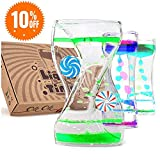 Liquid Motion Bubbler Timer: Best Sensory Toy for Relaxation, Liquid Motion Timer Toy Floating Color Lava Lamp Timer - Incredibly Effective Calming Toy for Kids & Relaxing Liquid Bubbler Timer for Ad