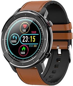 Reloj Inteligente Hombre, Smartwatch con Pantalla táctil, Fitness Tracker Impermeable IP68, Reloj Pulsometro Deportivo con Podómetro Monitor de Sueño Notificación Llamada y Mensaje para Andriod iOS: Amazon.es: Electrónica