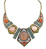 Clearance! Paymenow Women Girls Retro Bohemia Necklace Flower Geometric Hollow Out Summer Beach Dress Pendant Necklace Jewelry Gift (Multi)