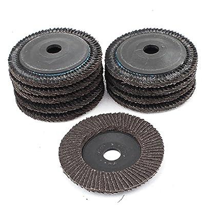 "uxcell 10pcs 4"" 72 Page Premium Sanding Flap Disc Grinding Wheel Sand Paper"