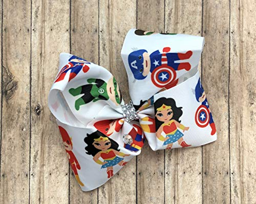 Hair Hero Bow Super - Super Hero Hair Bow by Inspired Bows