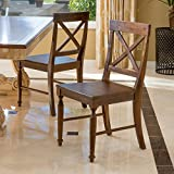 Christopher Knight Home 296564 Rovie Dark Oak Acacia Wood Dining Chairs