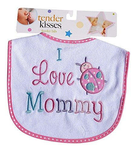 Tender Kisses Infant Embroidered Bib