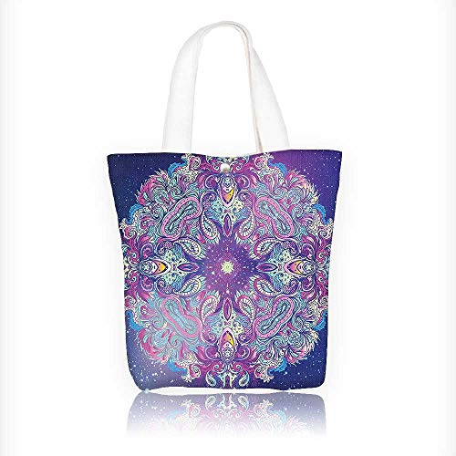 Canvas Tote Bags India Spirituality Symbol Yoga Meditation Cosmos Theme Design Your Own Party Favor Pack Tote Canvas Bags by Big Mo's Toys W11xH11xD3 INCH by Auraisehome