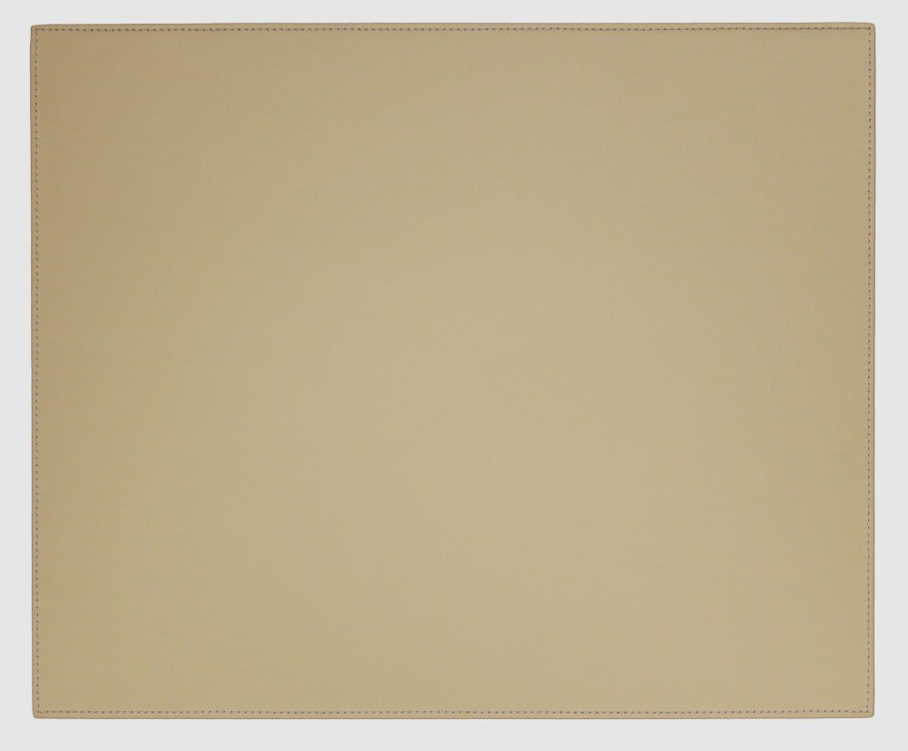 Dacasso Faux Leather Table Mat, Sandy Tan, 17 x 14-Inch L6510