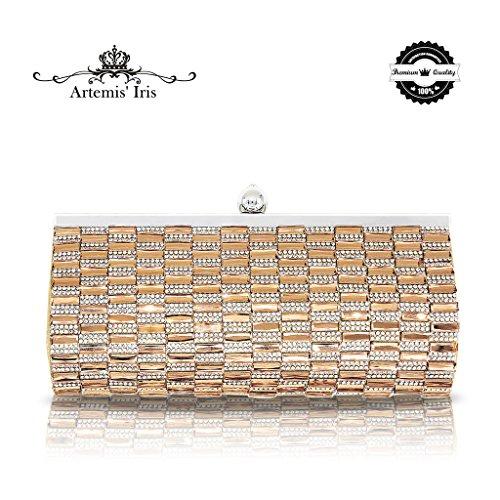 2 Para Nuevo Diamante Embrague Bolso Baile En Fin El Cristal Artemis'iris Evening Mujeres Las Gold De Curso Vestido Cadenas ad0XSq