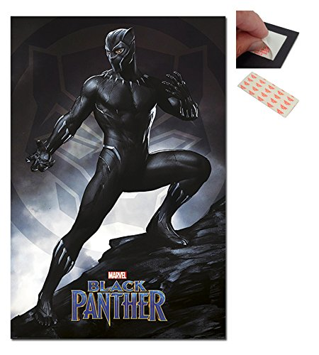 Black Panther Stance Marvel Poster - 91.5 x 61cms (36 x 24 - Black Glasses Panther