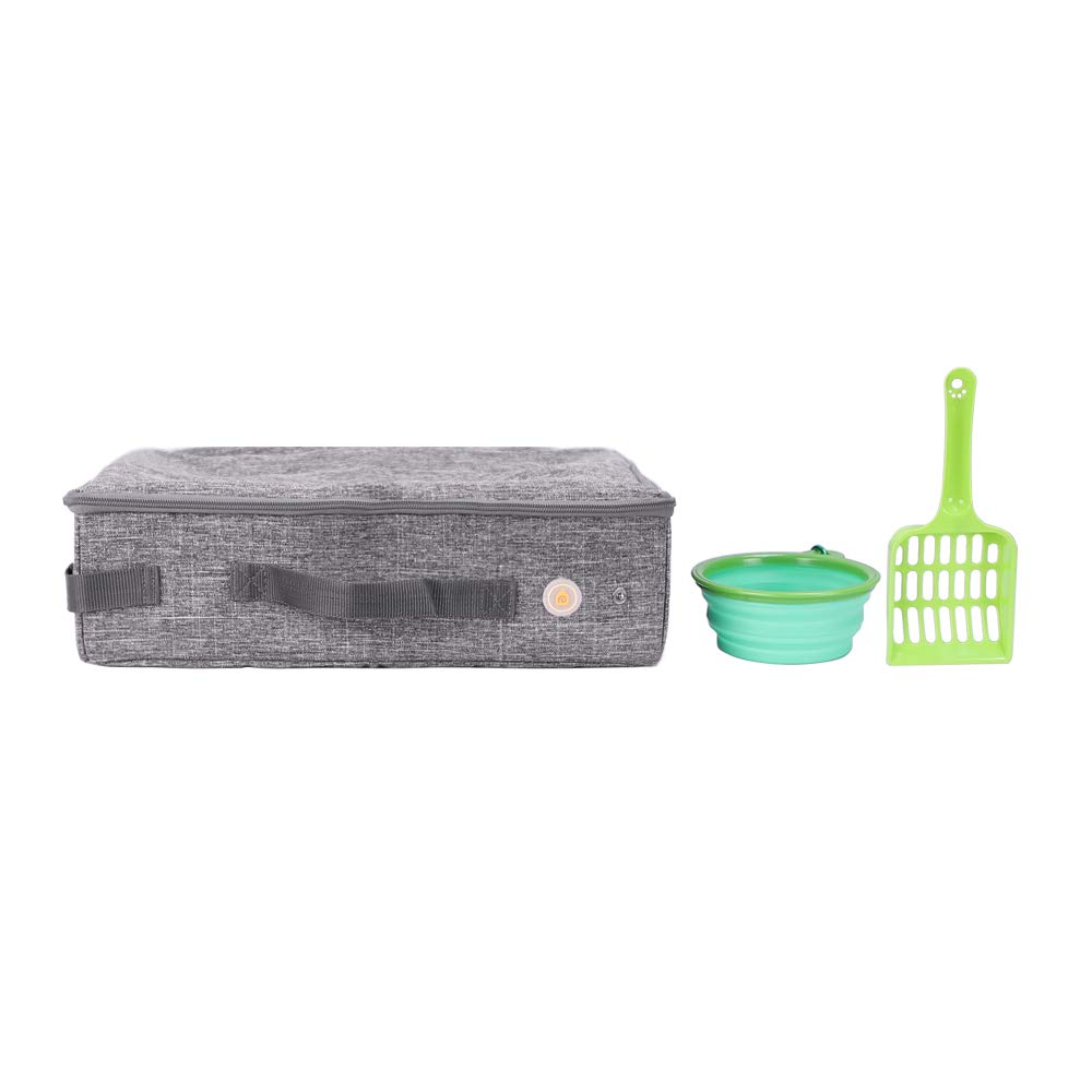 petisfam Travel Litter Box for Cats with 1 Collapsible Bowl and 1 Scoop by petisfam