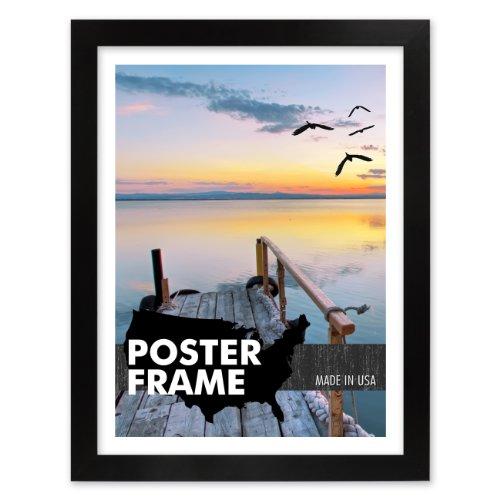 Amazon.com - 20 x 60 Satin Black Poster Frame - Profile: #99 Custom ...