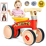 Reeple Baby Balance Bikes 10-24 Month Children Walker Riding Toys for 1 Year Old Boys Girls Kids Gifts No Pedal Infant 4 Wheels Toddler Bicycle Best First Birthday New Year Holiday