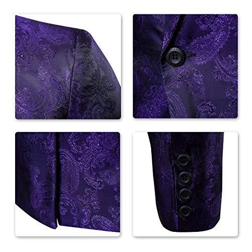 Scialle Blazer Vintage Da Prom Mode Button A Colletto Uomo Down Bolawoo Marca Monopetto Giacca Violett Risvolto Di Con IqZxfwSIdB