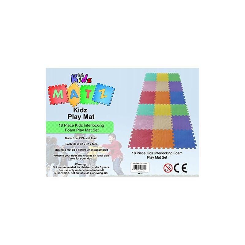Edz Kidz Interlocking Foam Play Mat Set 18 Piece Pastel