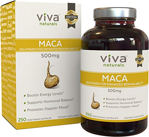 Organic Maca Root Capsules by Viva Naturals, 500mg, for sale  Delivered anywhere in USA
