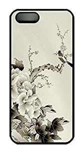 For SamSung Galaxy S5 Phone Case Cover Chinese style peony PC Custom For SamSung Galaxy S5 Phone Case Cover Black