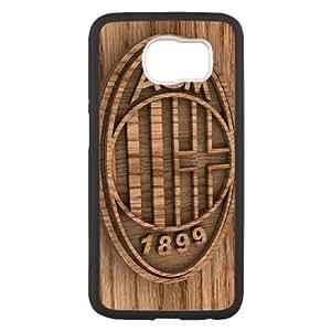Ac Milan 2 funda Samsung Galaxy S6 caso del teléfono celular funda X4R6ZLLMMF negro