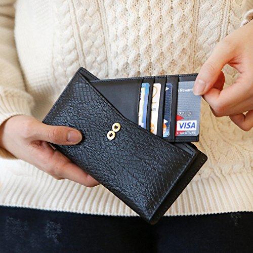Galaxy Note 8 Case, DesignSkin [WALLET PLUS]: 2 in 1 Set Folio Flip Cover Case With Removable Card Holder Snap Closure 100% handmade Genuine Leather Unique Protective Cash Pocket Slot Storage (Black) by DesignSkin (Image #6)