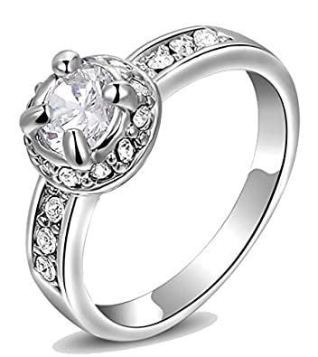 b905eb7d57 Buy Silver Finish 'The Black Spark' Crystal Sterling Silver Ring for Boys,  Girls, Men & Women Sterling Silver Crystal Silver Plated Ring Online at Low  ...