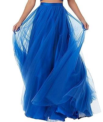Duraplast Women's Prom Long Skirt Plus Size Tutu Skirt Formal