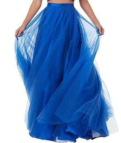 [Duraplast Women's Prom Long Skirt Plus Size Tutu Skirt Formal Royal Blue] (Plus Size Tutu Skirt)