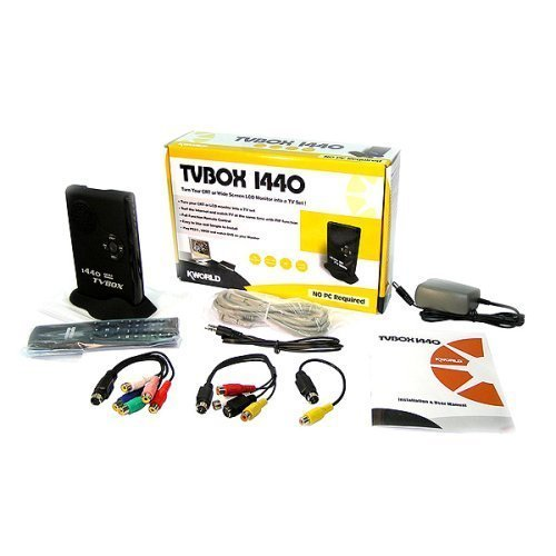 Kworld External Tv Tuner Spkr Turn Your LCD Monitor Into A
